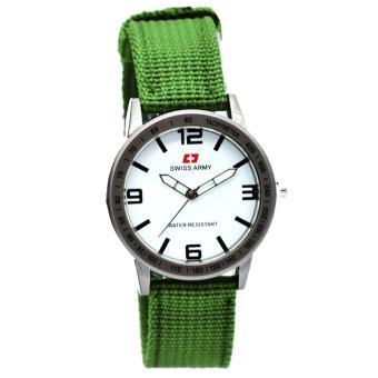 ... Pria Stainlesstell Strap Dual Sa Kulit Hitam Variasi Putih 89011 Source. Source · Swiss Army Tali Canvas-jam tangan wanita-analog ( Model Terbaru )