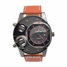 Swiss Army Unique Watch - Jam Tangan Pria - Hitam - Strap Kulit - STA795IDR85395.