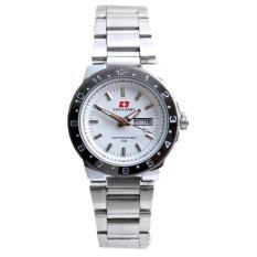 Swiss Army Women's – Jam Tangan Wanita – Silver – Stainless Steel – SA 3110 L Bezel Silver