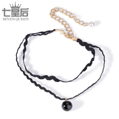 Tali leher leher tali hitam tali tali perempuan kalung kalung Choker