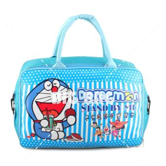 Tas Anak Fashion Travel Bag - Doraemon - Enjoy Your Meal - Blue Tas Travel Tas