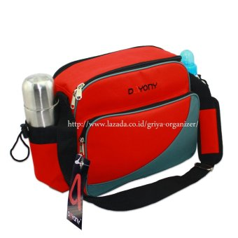 Tas bekal bayi MB02 baby bag diaper - Dayony Lunch Box MB 02 - Merah