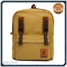 Tas Punggung Backpack Ransel Laptop 14 Inch Canvas Water Repellent 13 Liter Pria Wanita