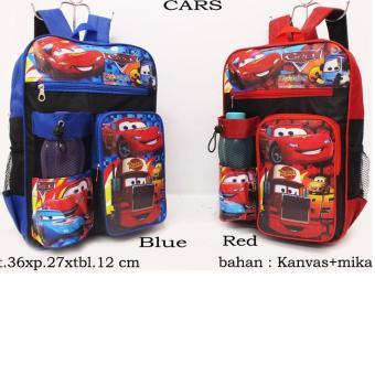 tas ransel anak sekolah cars (gratis botol minum)