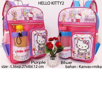 tas ransel anak sekolah hello kity (gratis botol minum)
