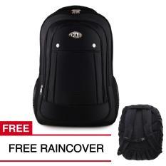 Tas Ransel Polo USA Black Phyton Tas Laptop Backpack + FREE Raincover Tas Pria Tas Kerja Tas Sekolah Tas Fashion Pria