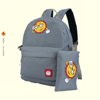 Tas Sekolah Anak SD Perempuan Gratis Tempat Pensil CCL 011-387 Abu Abu