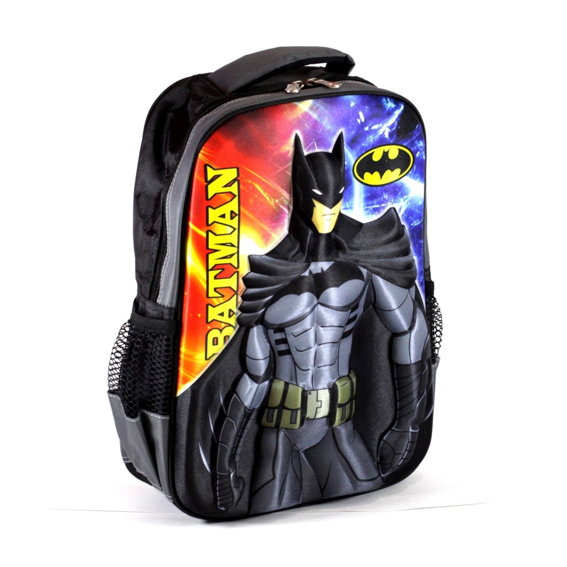Jual Tas Sekolah Ransel Anak Tk Sd Cowok Model 3d Motif Batman Murah Set