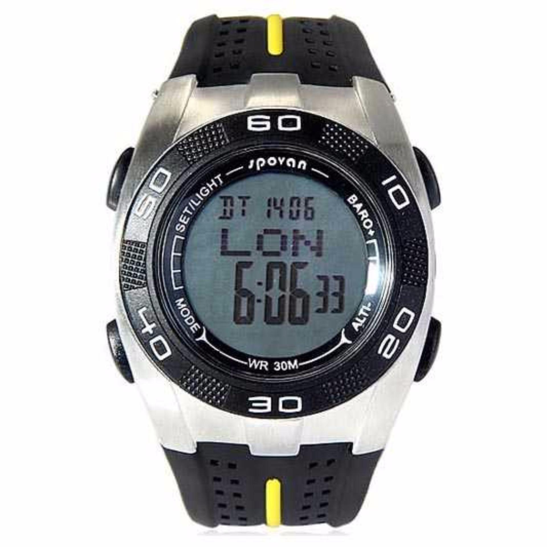 Outdoor Spovan Spv706 Fishing Barometer For Traveling Jam Bravo Ii Tangan Sport Black Blade V Waterproof Watch White