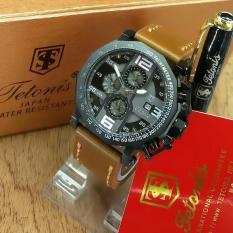 Tetonis Original TS3433LS - Jam Tangan Pria – Chrono Aktif - Leather Strap