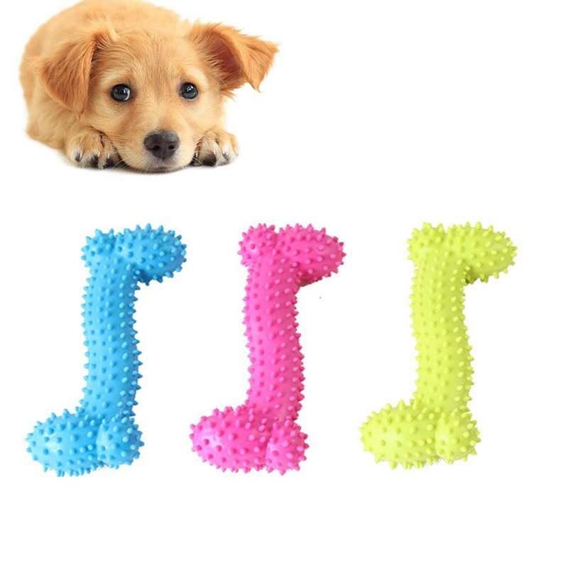 The Training of Dog Bite Small Puppy Dog Bone Molars Rubber Game Bone Toy For Training Teeth Pet Dog Chew Rubber Toys Thermal - intl
