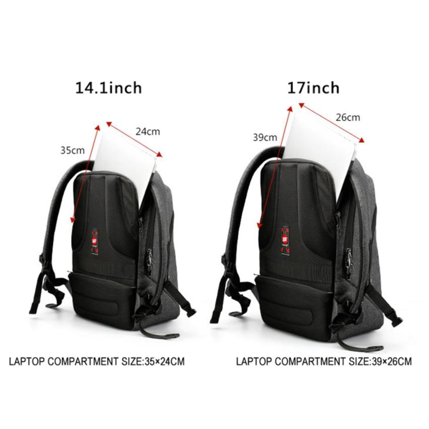 f35fc254fcac Tigernu Classic Light Weight Backpack for 12-17inches Laptop With External  USB .