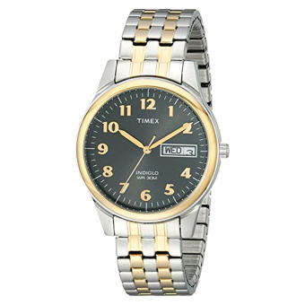Timex Men's T26481 Elevated Classics Stainless Steel Two-Tone Watch - Intl
