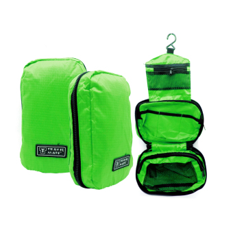 Travel Bag / Travel Bag Organizer / Travel Mate / Tas Kosmetik Toilet - hijau