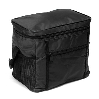 Travel Portable Waterproof Thermal Cooler Insulated Tote PicnicLunch Ice Bag Black