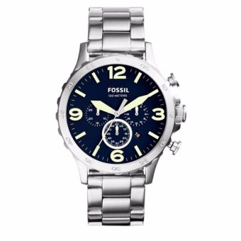 Triple 8 Collection - Fossil Nate JR1499 Silver - Jam tangan Pria