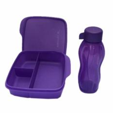 Tupperware Lunch Box set Glittery Eco Lolly 2pcs/set Ungu