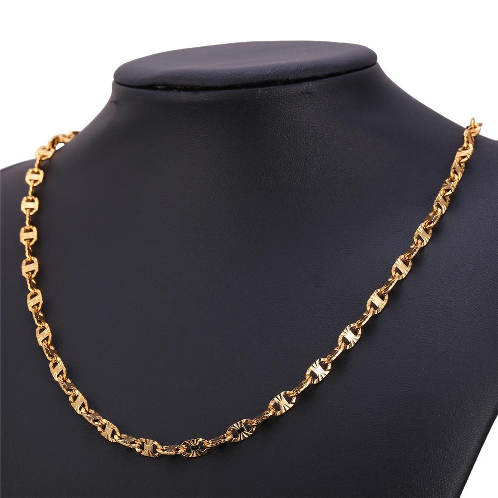 ... U7 55.88 cm Fashion 18 KB nyata emas berlapis rantai kalung (emas) ...