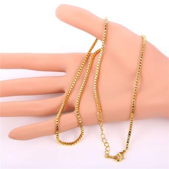 ... Liontin Inisial Kubik Zirconia 18 Kb Nyata Emas Berlapis Fashion Wanitapria Hadiah Perhiasan Emas; Page - 4. U7 sederhana emas kotak kalung rantai 55 88 ...