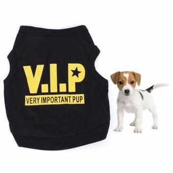 Unipet Baju Kostum Anjing Kucing VIP Hitam Size S