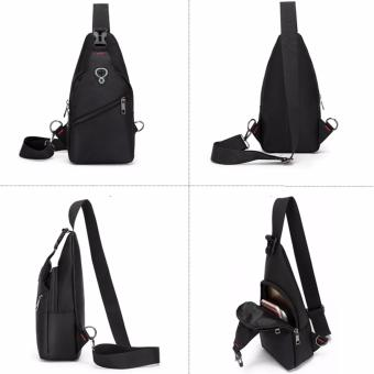 Unique Tas Selempang Anti Air - Oxford Sling Bag Ultralight Travel and Running Bag