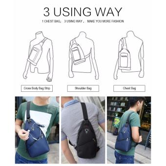 Harga Unique Tas Selempang Anti Air - Oxford Sling Bag Ultralight Travel and Running Bag Murah