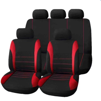 Universal Car Seat Cover 9 Set Full Seat Covers Crossovers Sedans Auto Interior Accessories Full Cover Set for Car Care - intl