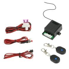 Universal Mobil Immobilizer Anti Pencurian Alarm Sistem Keamanan Perlindungan dengan 2 Remote Controller-Intl