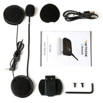 V6 6-pengendara interkom 1200 m Bluetooth interfon untuk helm sepeda motor - ?