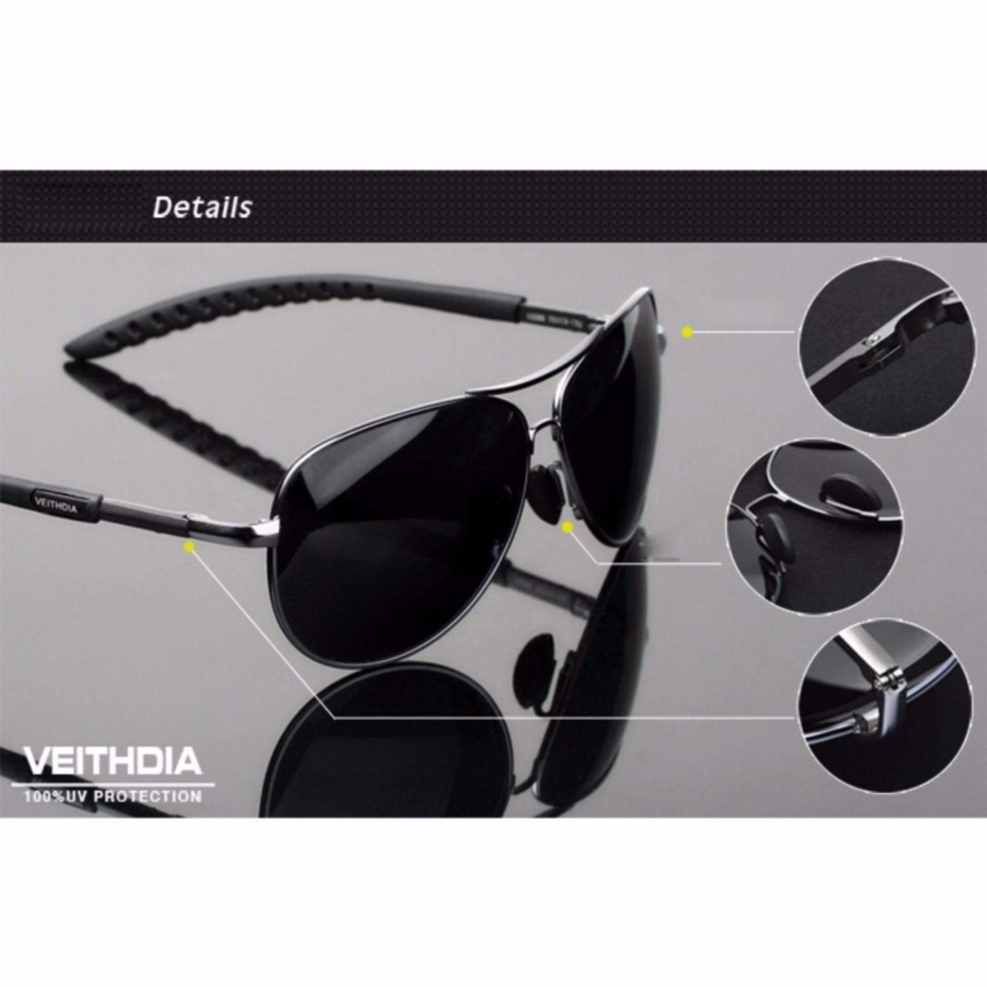 ... Fashion Classic Design Source · Veithdia Kacamata Aviator Pilot Polarized Sunglasses Hitam