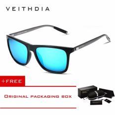 VEITHDIA Kacamata Hitam Aluminium Sport dan Travel Elegant Mirrored UV400 Polarized Sunglasses - 6108