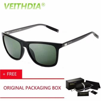 VEITHDIA Kacamata Hitam Aluminium Sport dan Travel Elegant Mirrored UV400 Polarized Sunglasses - 6108