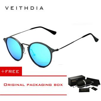 Bandingkan Simpan VEITHDIA merek fashion unisex kacamata terpolarisasi  lapisan cermin matahari bulat mengemudi kacamata hitam Pria 14224d7bd3