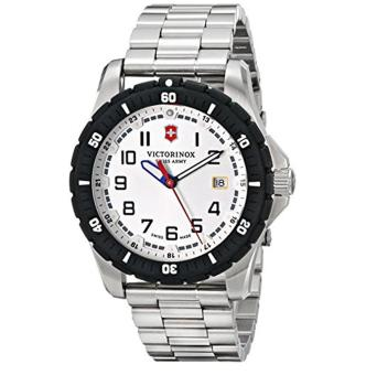 Victorinox Men's 241677 Analog Display Swiss Quartz Silver Watch - intl