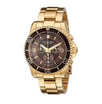 Victorinox Men's 241691 Maverick Gold-Tone Stainless Steel Bracelet Watch - intl
