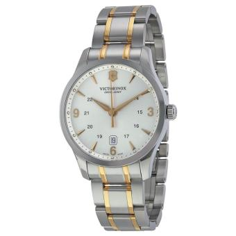 VICTORINOX SWISS ARMY 241477 Alliance - Jam Tangan Pria - Stainless - Silver - Gold