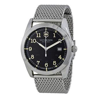 Victorinox Swiss Army Infantry Black Dial Woven SS Quartz Men's Watch 241585 - Intl