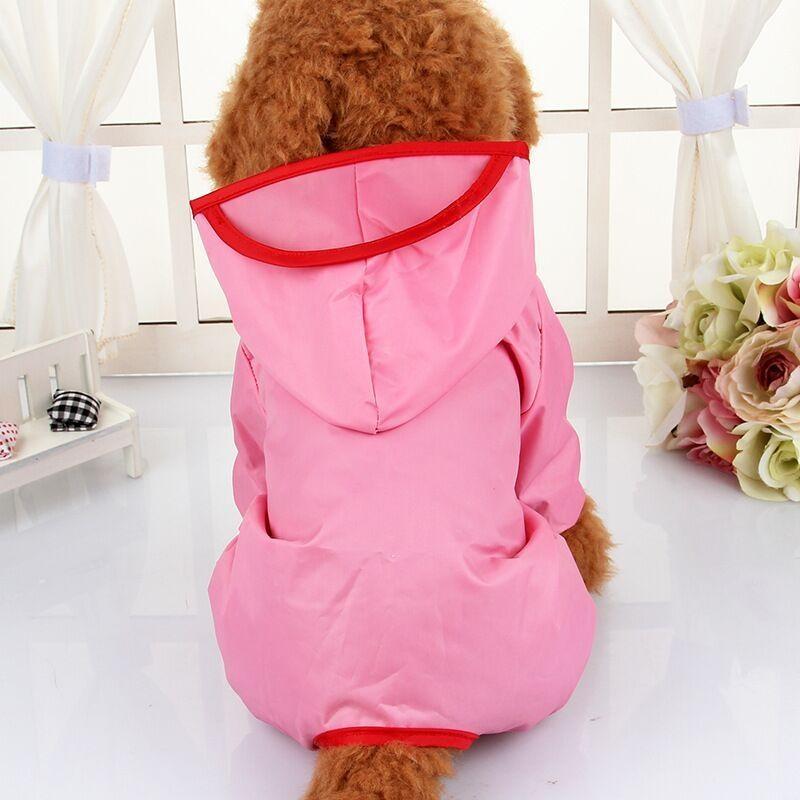 Victory New Pet Raincoat Dog Raincoat Dog Clothes Puppy Poncho Hooded Pet Raincoat Clothes Pet Shirts(Pink-XS) - intl