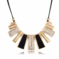 Vienna Linz Kalung Pesta Organza Korea Vintage Necklace Fashion Accessories - Black