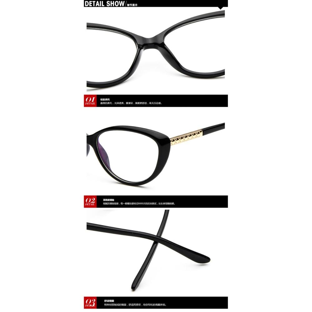 Vintage Wanita Lensa Kacamata Bingkai Kacamata Retro Jelas LensEyewear  Untuk Perempuan . 7ccea22075