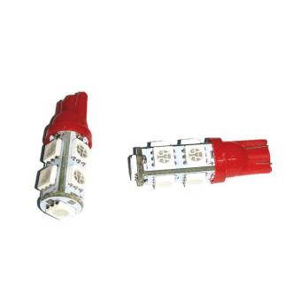 LED 9 Mata T10 Untuk Lampu Motor 2 Pcs - Merah