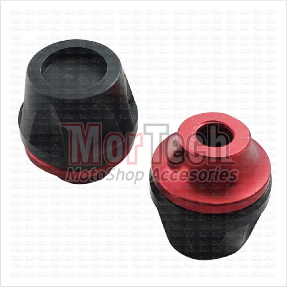 Shopping Comparison VRC New Cover - Tutup - Jalu - Bandul as roda depan Satria Fu 150cc Merah