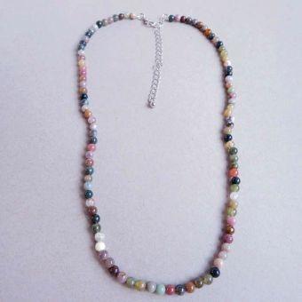 Warna tidak pudar batu akik manik-manik gelang alami batu kalung