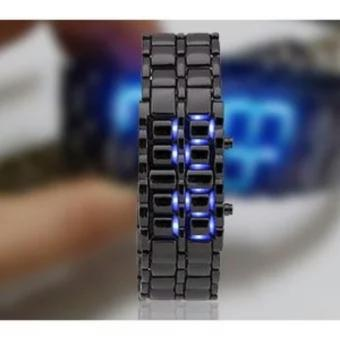 Watch LED Iron Samurai Jam Tangan Pria - Black - Stainless Steel - original