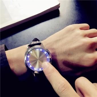 Tahan Air LED Watch Pria dan Wanita Pecinta Watch Smart Electronics Watches- Intl