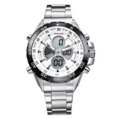 WEIDE Men's Swiss Waterproof Watches Multi - Functional Military Table Outdoor Climbing Sports Men 's Stainless Steel Belt Watch WH1103 -White Surface - intl