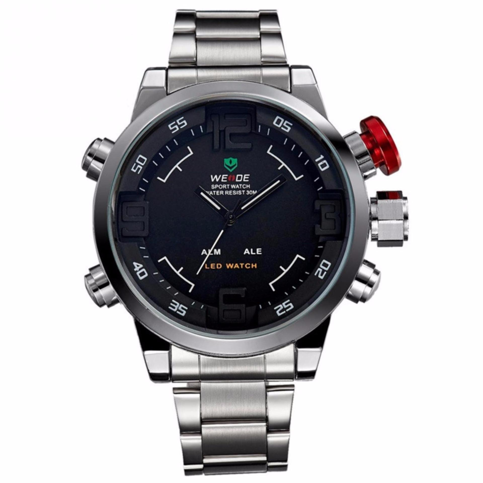 Weide WH2309 Men s Military Sports Band Digital LED Dual Time Display Jam Tangan