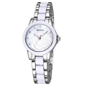 WeiQin 2733 Hollow Hands Solid Flower Rhinestone Scale Shell Dial Fashion Women Quartz Watch With Alloy