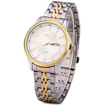WeiQin 5076 Men Calendar Steel Luminous Analog Quartz Watch (WHITE)