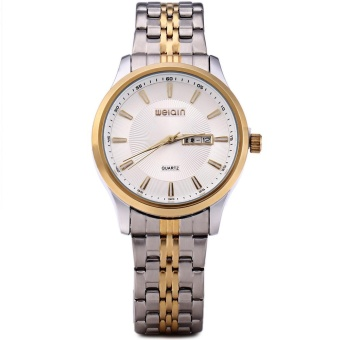 WeiQin W00120 Men Calendar Steel Luminous Analog Quartz Watch - intl